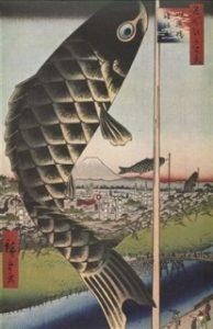 地球温暖化と江戸百景